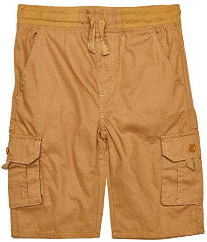 Quad Seven Boys Pull-On Ripstop Cargo Shorts, Bronze, Size 12