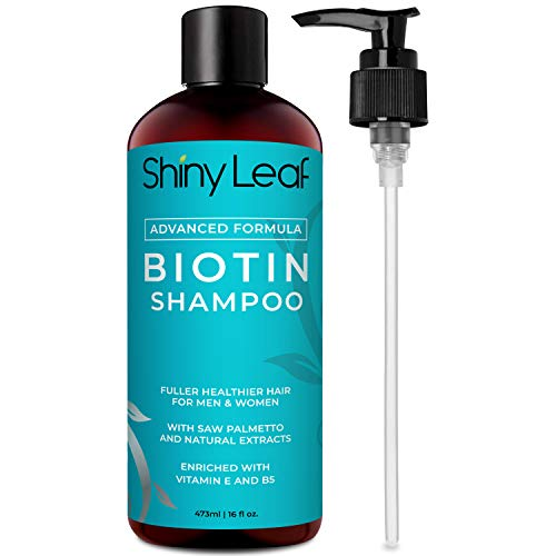 Biotin Shampoo For Hair Growth Advanced Formula Sulfate-Free, Paraben-Free, Thickening Shampoo, For Thicker and Fuller Hair, Hair Loss Shampoo, For Men and Women, Big Bottle 16 oz. 473 ml)