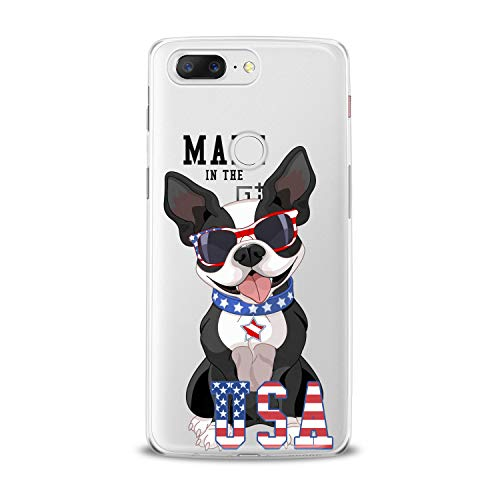 Lex Altern TPU Case for OnePlus 7 Pro 6T 6 2019 5T 5 2017 One+ 3 1+ Colorful Cute Bulldog Trendy Dog Watercolor Clear Animal Cover Silicone Quote Print Protective Design Pattern Teen Stylish Top