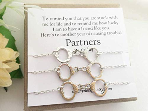 Amazoncom Best Friend Gift Set Of 3 Partners In Crime Bracelets