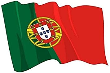 U24 Autoaufkleber Wehende Flagge Portugal 8 5 X 6 Cm Auto