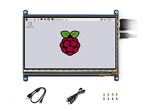 for Raspberry Pi 7 inch Capacitive Touch Screen IPS Display HDMI LCD Module 1024×600 Touchscreen for Raspberry Pi 3/2/1 Model B B+ A+/BeagleBone Black/Banana Pi, Support Windows 10/8.1/8/7