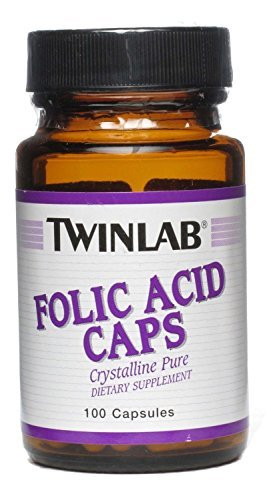 TwinLab Vitamin B Folic Acid 800 mcg 100 capsules (a) - 2PC by TWINLAB