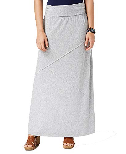 (Style & Co. Petite Pieced Maxi Skirt (Light Grey Heather, PL))