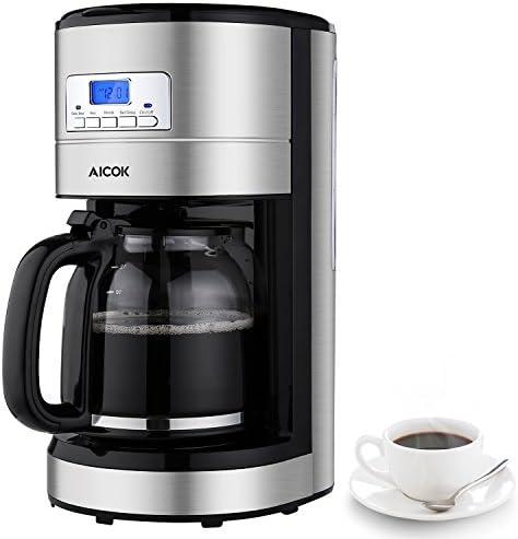 Aicok,Cafetera,cafetera electrica,Cafetera de Goteo Programable ...