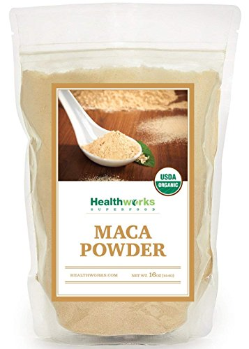 Healthworks Maca Powder Peruvian Raw Organic, 1lb For Sale