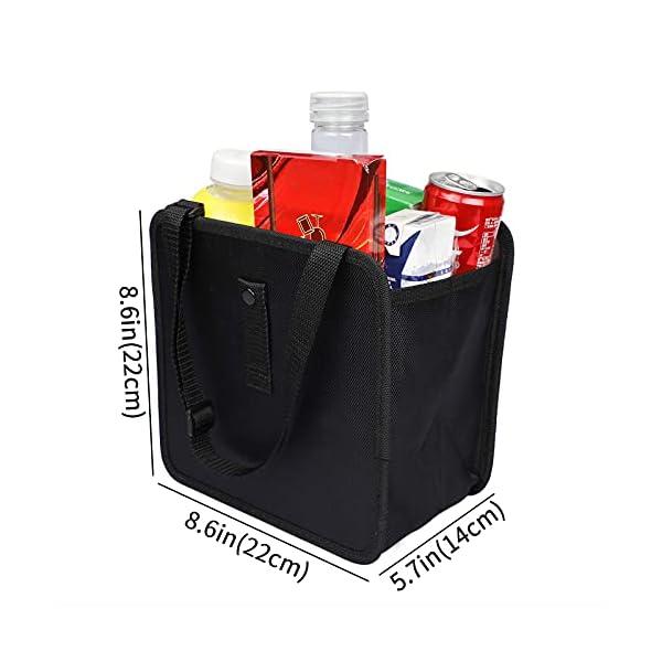 41n%2BoSu3SpS PowerTiger Auto Mülleimer, KFZ Abfalleimer Wasserdicht Abfallbehälter Auslaufsicher Autositztasche für Müll, Schwarz 6…