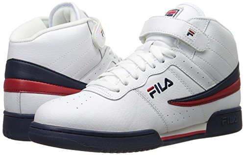 Fila Men's F-13V Leather/Synthetic Shoes White/Fila Navy/Fila Red 6.5