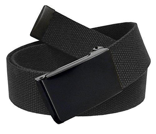 All Sizes Men's Golf Belt in 1.5 Black Flip Top Buckle with Adjustable Canvas Web Belt Medium - Web Adjustable