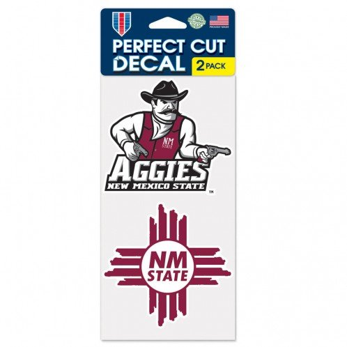 WinCraft NCAA New Mexico State University Perfect Cut Decal (Set of 2), 4