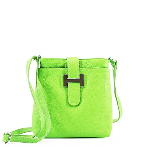 LeahWard Women's Real Leather Small Cross Body Messenger Bags Handbag For Women Holiday (GREEN) Green