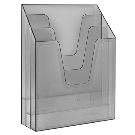 Acrimet Vertical File Folder Organizer (Smoke Color)