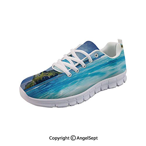 SfeatruAngel Athletic Shoes with Swimming Pool and Tropical Sports Shoes