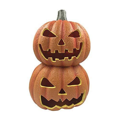 Halloween Lanterns Are Funny Double Stacks Of Pumpkin