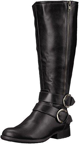 LifeStride Women's X-Must Riding Boot, Black Tumbled, 8 M US