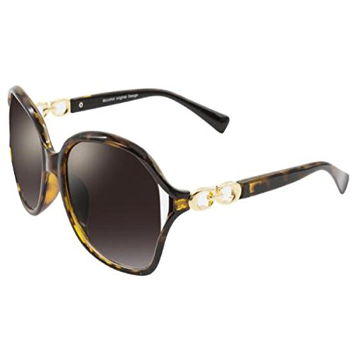 Elegantes Gafas Subtropicales Redonda De Hipster Sol Leopard De Gafas Sol Femeninas LQQAZY Cara Elegantes Limpias Sol De Gafas Leopard wn6OAqB1