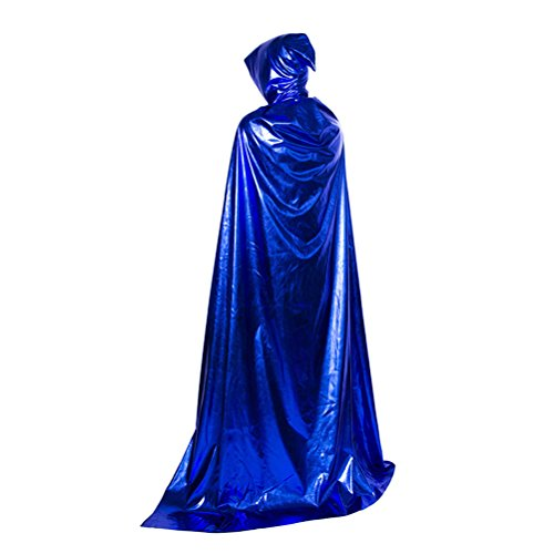 Zhuhaitf Halloween Costumes Womens Mens Cosplay Long Cloak with Hooded Role Play]()