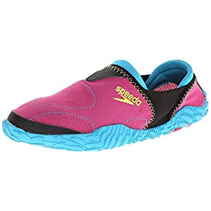 Speedo Women's Offshore Amphibious Pull-On Water Shoe,Fuchsia/Hawaiian,8 M US