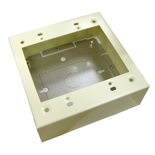 Wiremold V2048-2 2-Gang Device Box Fitting Steel Ivory For Use With 2000 Series Single-Channel Raceway