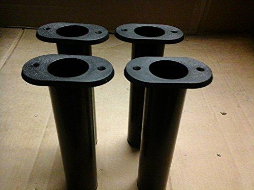 Fishing Rod Holder Black 90 Deg Flush Mount 4 Pack For Sale