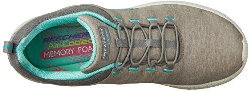 Skechers SkechersBurst Equinox - Zapatillas de running mujer gris/verde menta
