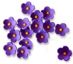 "JEM Cutters Icing Blossoms - ¾"" - Purple - 30 pcs"