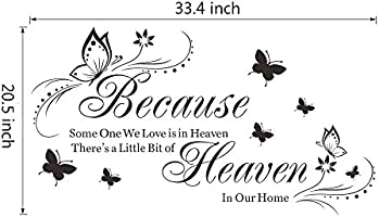 Witkey Because Someone We Love Is In Heaven Quotes Wall Stickers Decal Room Decor Diy Amazon Com Au Kitchen