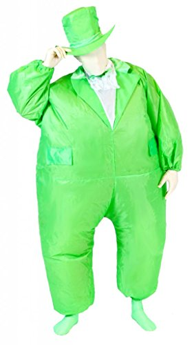 Tuxedo Tux Inflatable Teen Chub Suit Costume (Green) (Inflatable Halloween Costume)