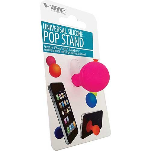 Vibe VE1061PK Durable Rubber Mobile Phone Stand Retail Packaging Black 1 Pack