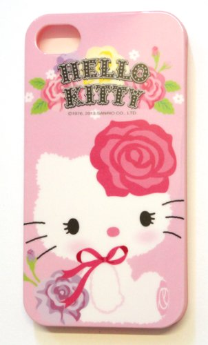 Hello Kitty Sanrio Licensed Original Flexible TPU Case (Flower) for Apple iPhone 4S/4G + Free WirelessGeeks247 Metallic Touch STYLUS PEN with Anti Dust Plug (Flowers Iphone 4g)