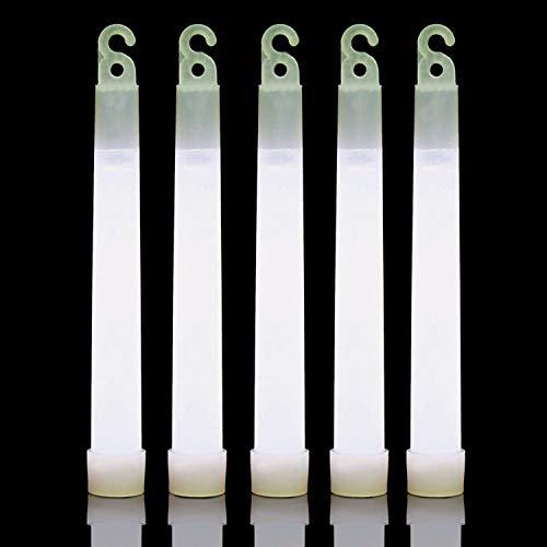 25 White 6 Inch Glow Sticks Bulk Pack | Long Lasting 8-12 Hours Bright Chemical Lights | Industrial Grade Emergency Light Sticks | Glow in The Dark -