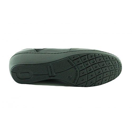 Oliver - Mocassins Noir Confortable en Largeur Plus - Aerobics lovely