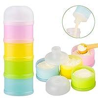 Formula Dispenser, Kidsmile Twist-Lock Stackable On-the-Go BPA Free Milk Powd...