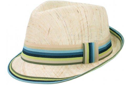 Pacific Bleu TG 58/60cm Chapeau glamour Papier Paille Trilby Fedora Cap unisexe hommes-femmes