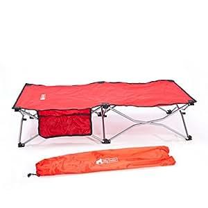 Cama de viaje para niños de Big DaddyTM, perfecta para dormir para camping, fiestas de pijamas, viajes y vacaciones, rojo