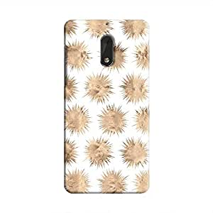 Cover It Up - Sand Star White Nokia 6 Hard Case