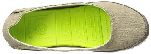 Khaki Stucco plana suela Crocs estiramiento qW4FvT
