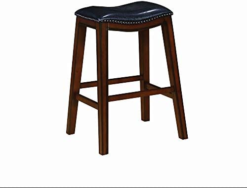 Coaster CO-122262 Bar Stool, Height, Black Leatherette