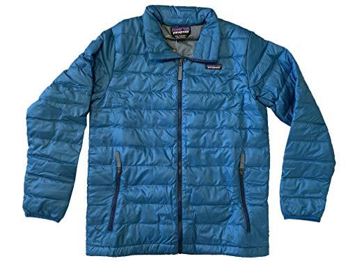 Patagonia Boys Down Sweater Full Zip Coat Jacket (Balkan Blue, X-Large (14))