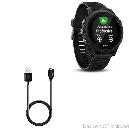 BoxWave Garmin Forerunner 935 Cable, [DirectCharge Cable] for Garmin Forerunner 935 - Jet Black