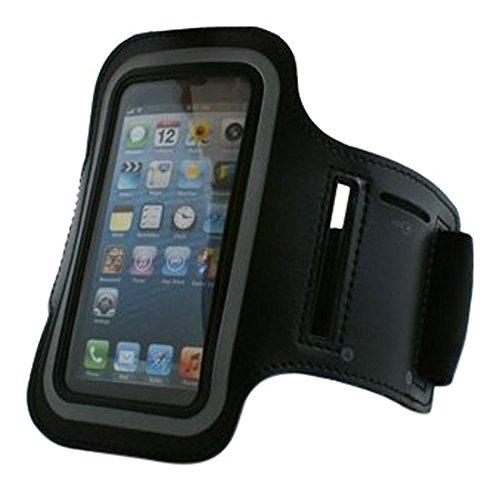 Système Brassard avec poche Coque Étui Case pour jogging, 5C Fitness Noir pour iPhone 5/5S