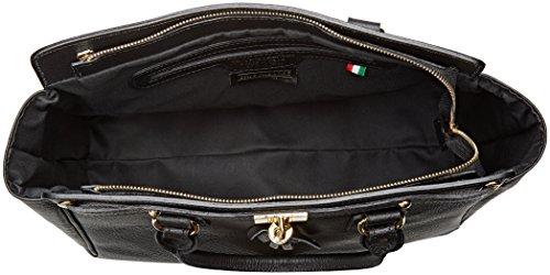 Cuir 40x27x18 Inner In Avec Noir Made Italy Chicca Ctm Borse Sac Main Cm Bandoulière À Femme Élégante F8FBx6gvqw