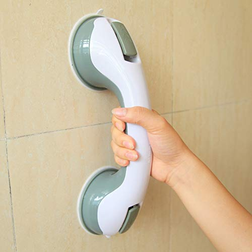 Zytree - Bathroom Grab Toilet Handle Handrail Grip SPA Bath Shower Tub Safety Helping Vacuum Suction Cup Anti Slip - Steel Rail Stainless Spa