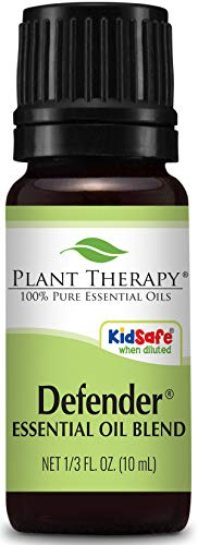 Plant Therapy Defender Blend 10 mL (1/3 oz) 100% Pure Undiluted Blend of Uplifting and Immune Supporting Essential Oils ()