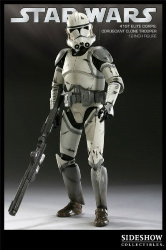 Sideshow Collectibles Militaries of Star Wars Deluxe 12 Inch Action Figure 41st Elite Corps Coruscant Clone Trooper
