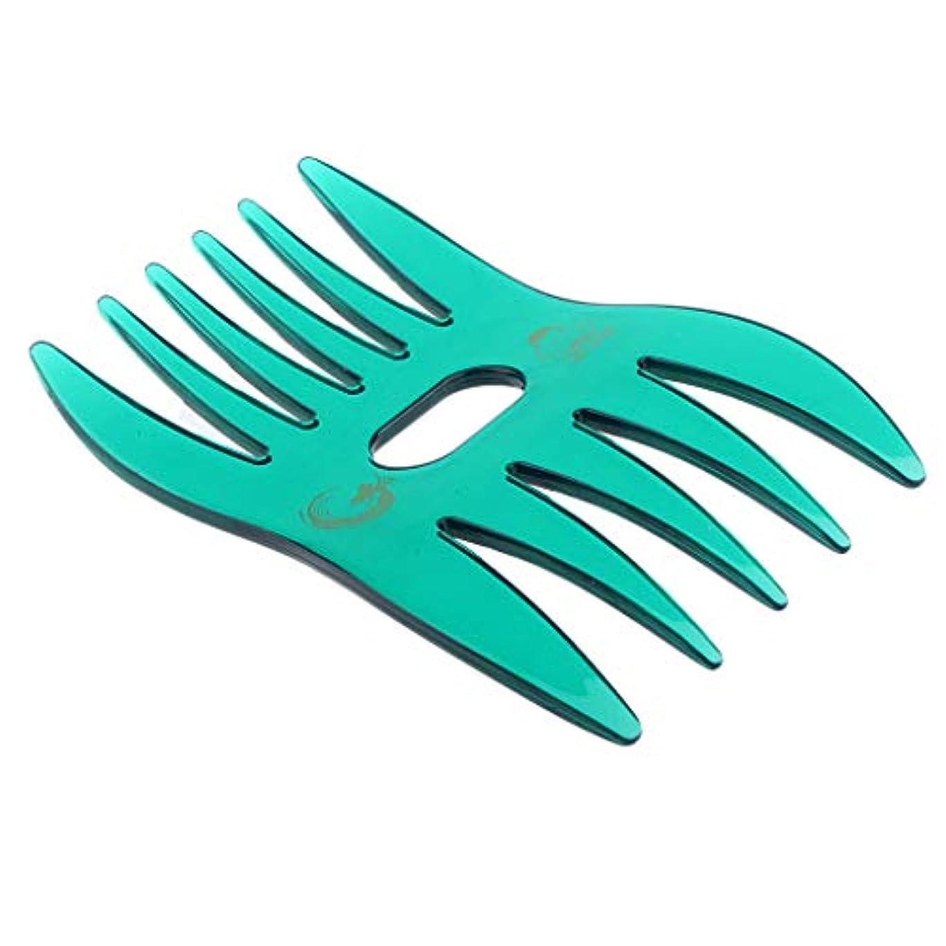 話をするラック砲撃B Baosity ヘアコーム ヘアブラシ デュアルサイド櫛 ワイド 細かい歯 ヘアサロン 自宅用 4色選べ - 緑