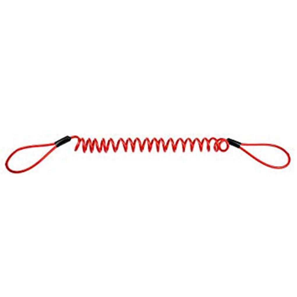 babysbreath17 Alarme Disque s/écurit/é Verrouillage Moto Roue de Motocyclette Rappel Disque de Frein Ressort C/âble Antivol Avertissement Corde Rouge 150cm