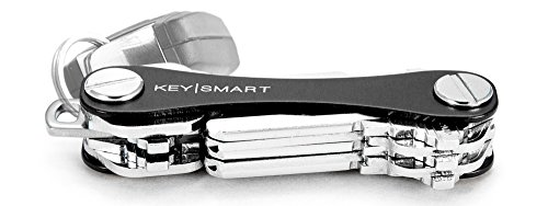 (KeySmart Classic - Compact Key Holder and Keychain Organizer (up to 14 Keys, Black))