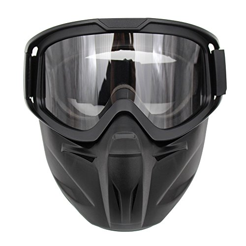 Motorcycle Goggles Mask Detachable Wear Over Rx Glasses Helmet Sunglasses (Model 2, Transparent - Models Sunglasses