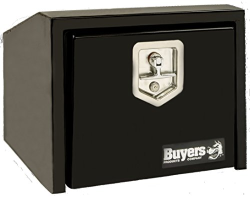 (Buyers Products 1703352 Toolbox (Slant, 14HX12DX24L, SST T-HDL, BLK))